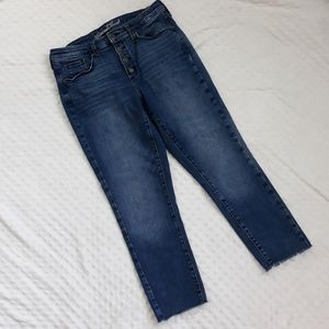Universal Thread high rise cut off ankle jeans 10